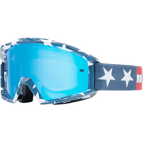 Fox Main Stripe Goggle white/red/blue